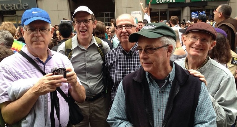 Jim Noonan third from left at Peoples Climate March in New York City September 21 2014