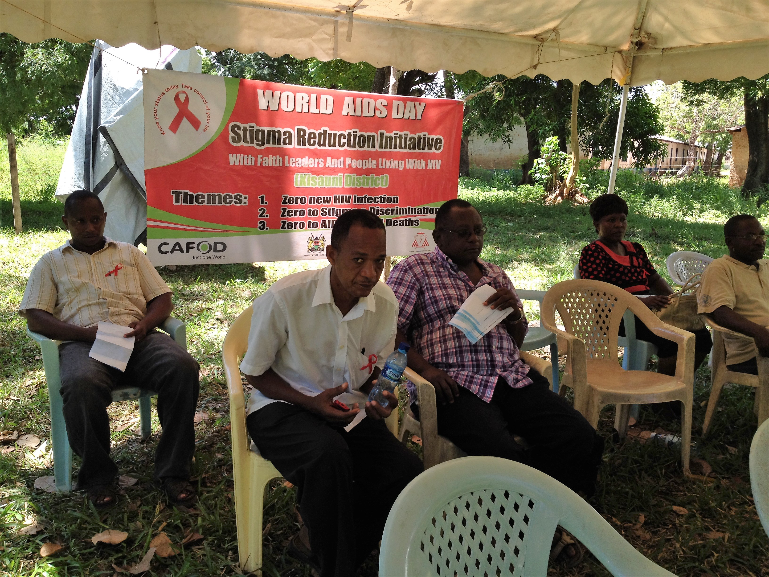 HIV/AIDS education on World AIDS Day in Kenya in 2012