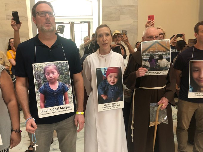 Demonstrators at the Catholic Day of Action for Immigrant Children