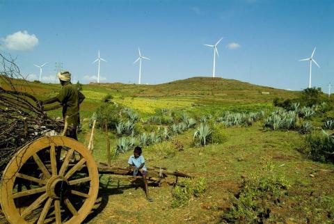 Wind turbines in India