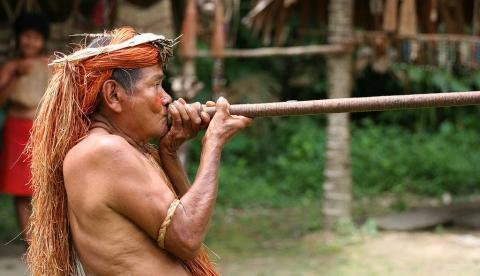 Yagua tribesman Peru