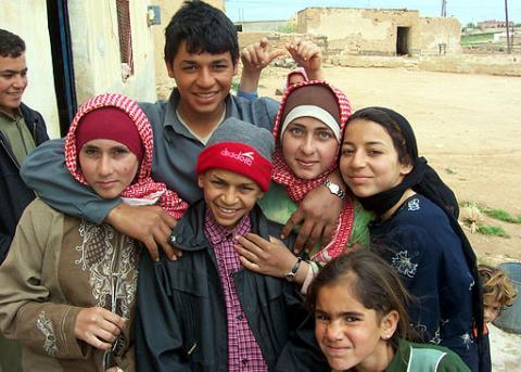 Bedu children in Aleppo, Syria