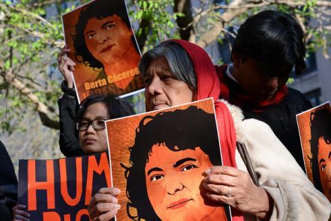 Berta Caceres protest