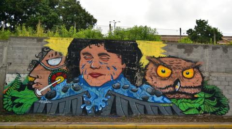 Street art of Berta Caceres in Tegucigalpa, Honduras available via Pixabay.