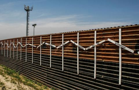 Border wall at Tijuana and San Diego Border