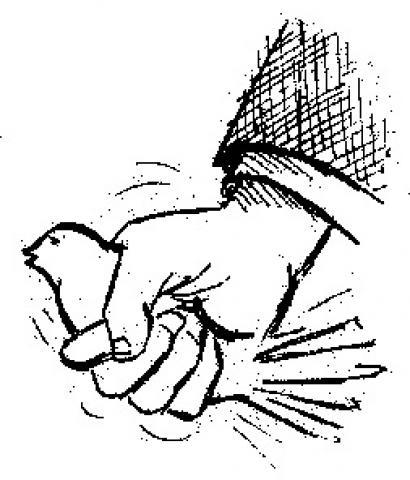 Fist squeezing dove
