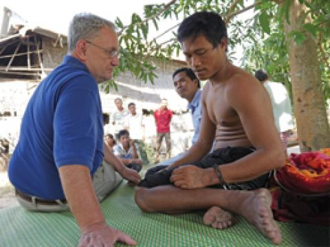 Maryknoll Associate Priest Kevin Conroy in Cambodia