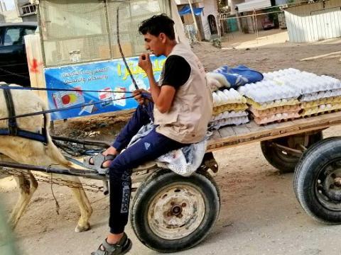 Egg vendor in Gaza 2018