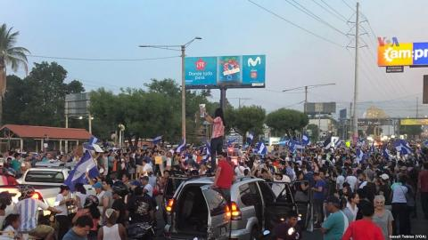 Protests in Nicaragua April 24 2018