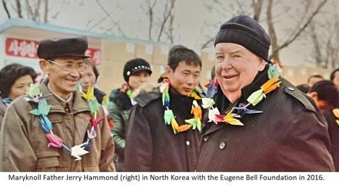 Maryknoll Fr. Jerry Hammond (right) in North Korea