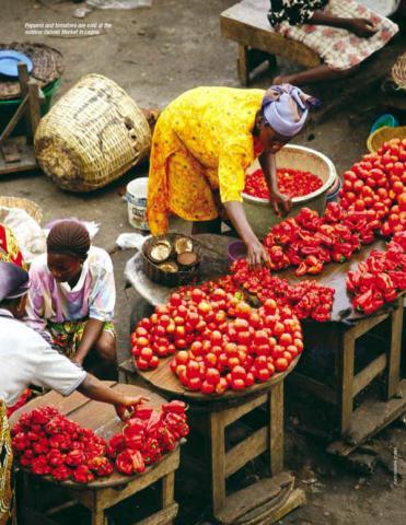 Farmers market in Nigeria