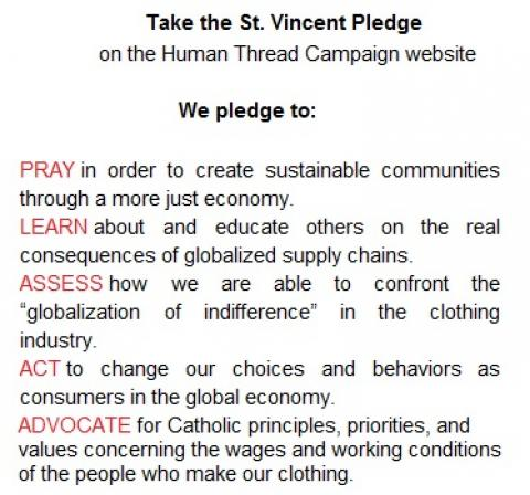 St Vincent Pledge