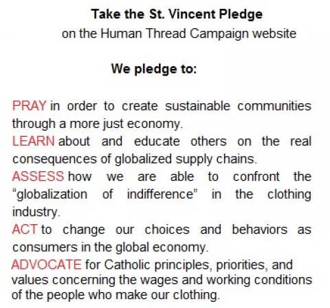 St Vincent Pledge