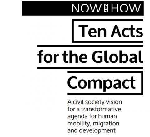 Now and How Ten Acts for the Global Compact cover