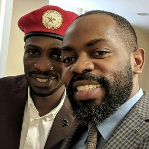 Bobi Wine and Léonce Byimana, executive director of Torture Abolition and Survivors Support Coalition International (TASSC) in Washington, D.C., September 13, 2018.