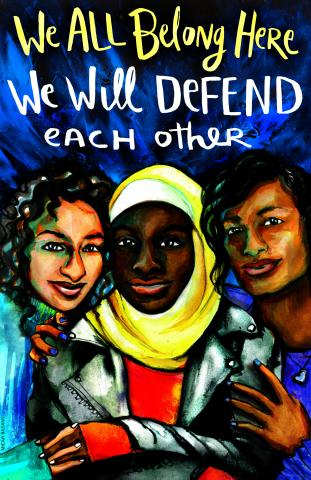 We All Belong Here poster from Amplifier Foundation