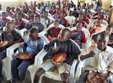Children at the Mavambo Trust program in Zimbabwe