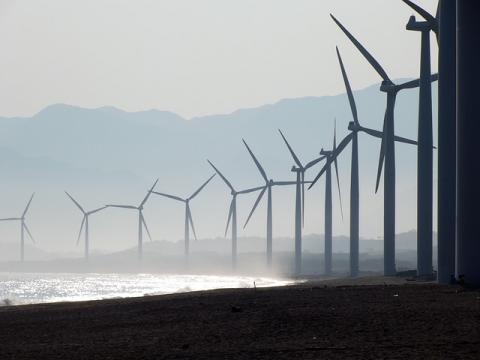 Wind farm at Bangui, Philippines