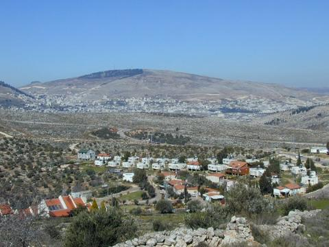 Image: Photo of Itamar, an Israeli settlement in the West Bank by Daniel Ventura on WikiCommons