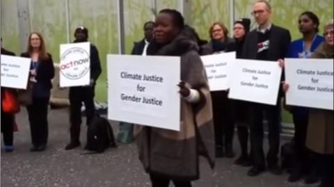 Climate Justice for Gender Justice action at COP21