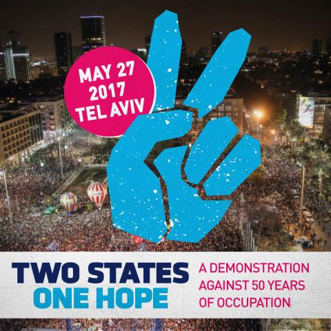 Two states One hope demonstration in Tel Aviv on May 27, 2017