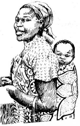 Woman with child
