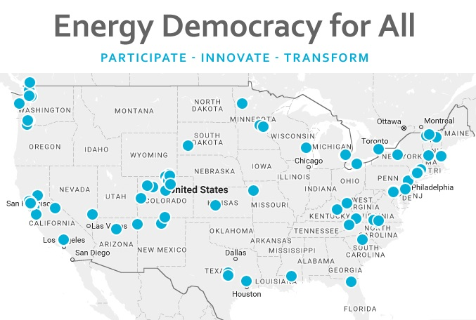 Energy Democracy for All map