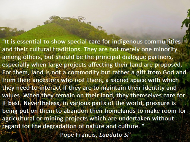 Pope Francis on indigenous rights