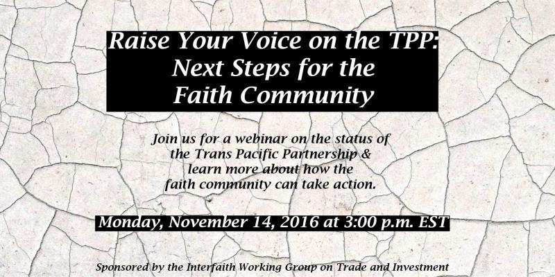 Webinar Raise your voice on the TPP details