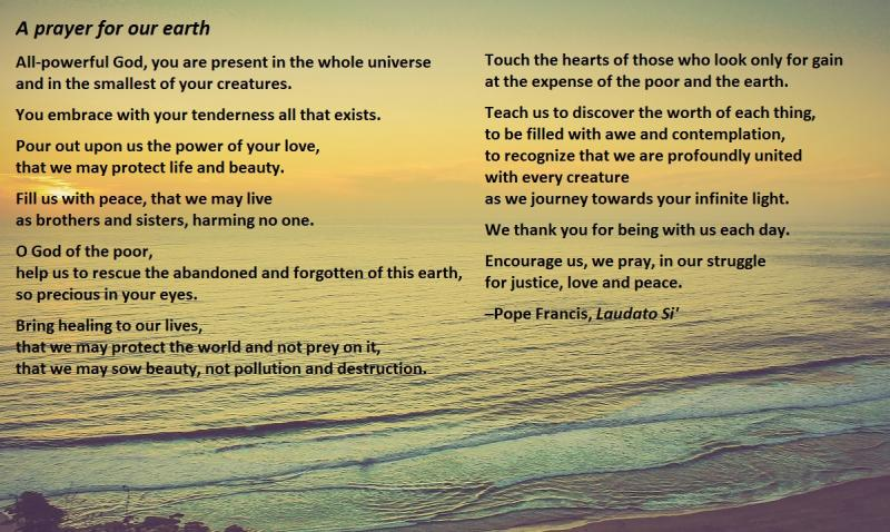 A prayer for our earth