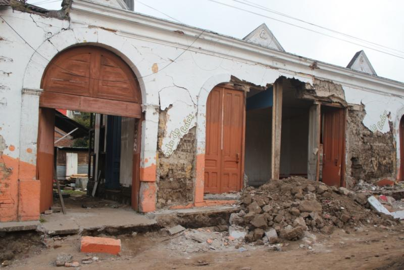 Earthquake damage in San Marcos, Guatemala