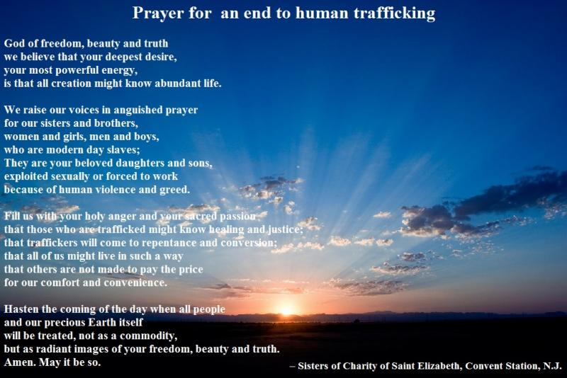 Prayer for an end to human trafficking